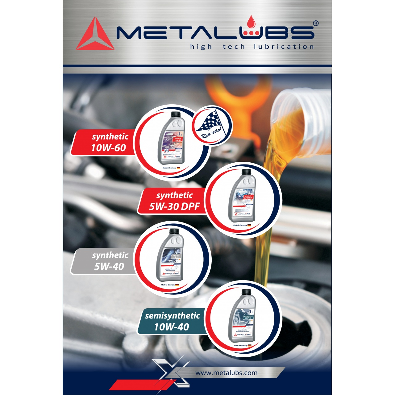 Poster Metalubs 60×88 cm