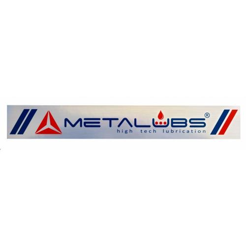 Metalubs-Aufkleber 42 × 6 cm